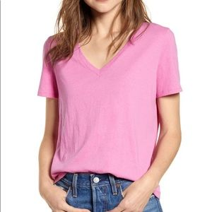 BP V-Neck Cotton Tee Pink Small